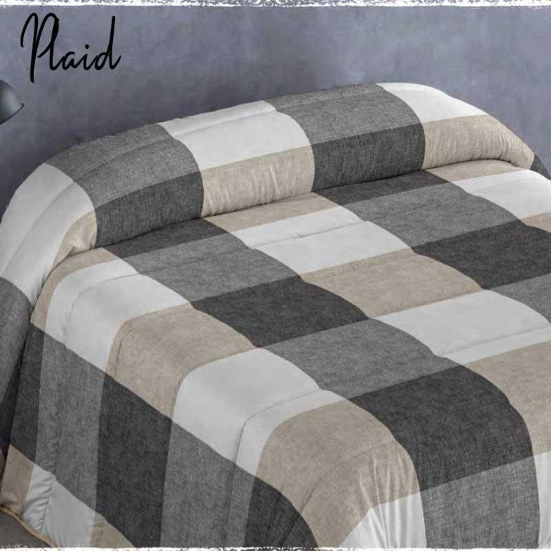 Edredón Comforter Plaid Naturals