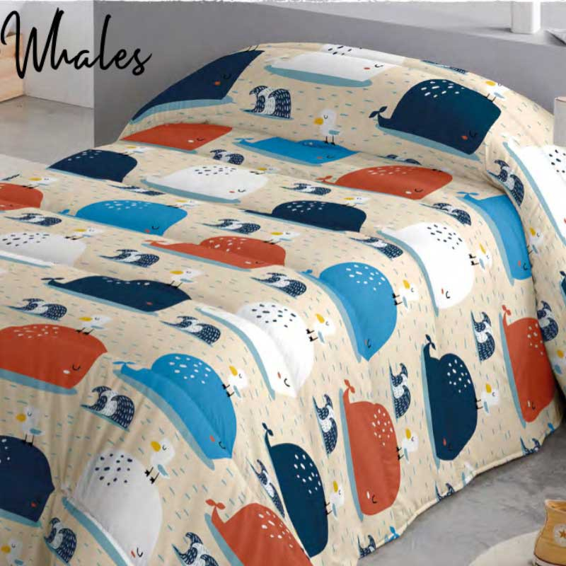 Edredón Comforter Whales Naturals