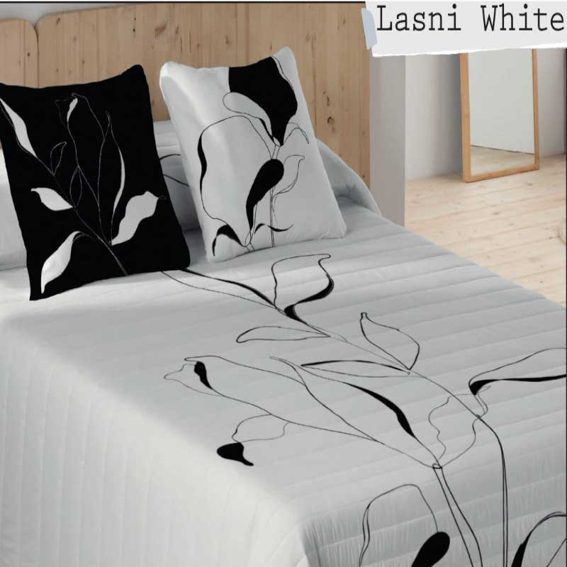 Colcha Bouti Lasni White Naturals